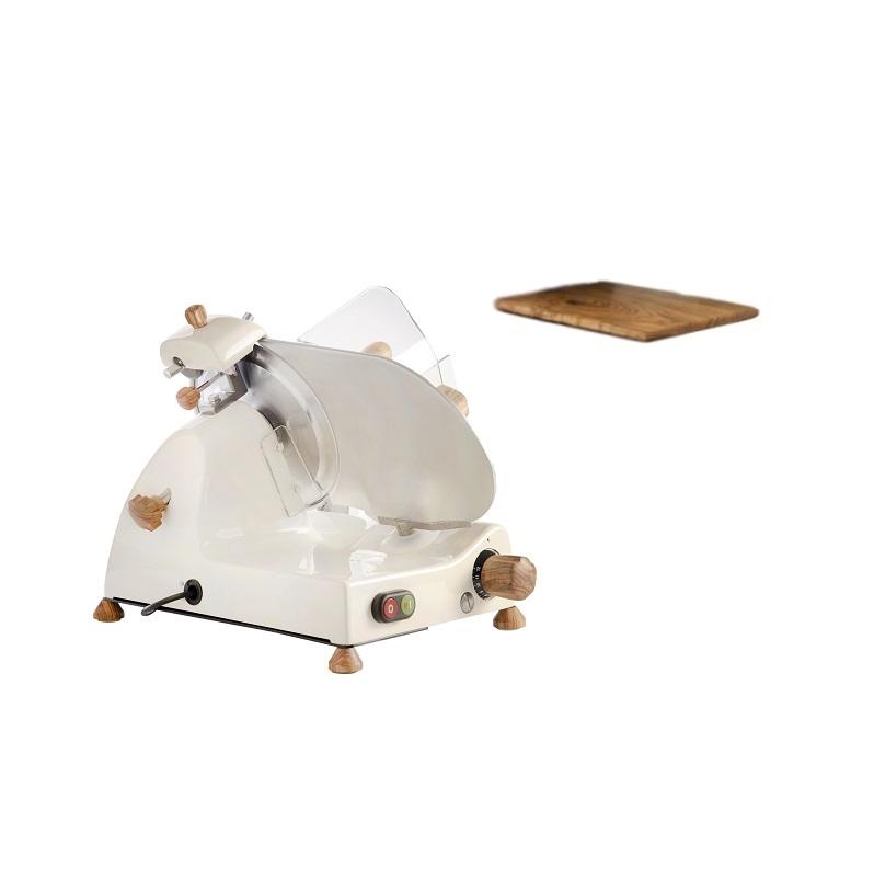 Affettatrice elettrica Curvy Line C220-Lama 22cm-Affilatoio fisso+kit legno ulivo - Crema
