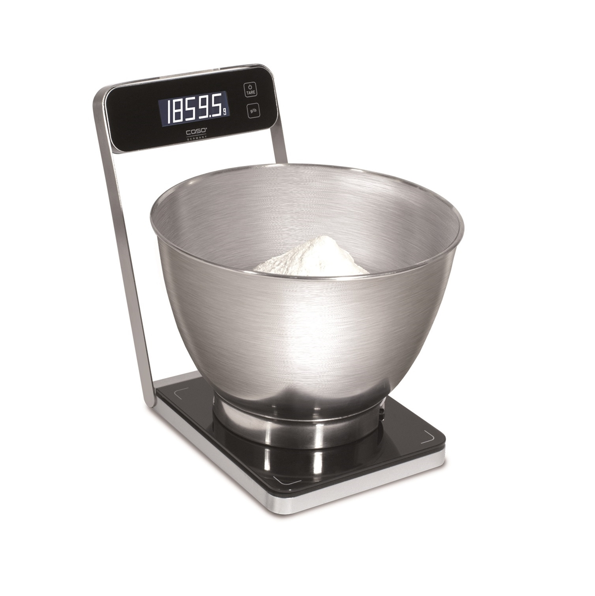 Digital kitchen scale with bowl