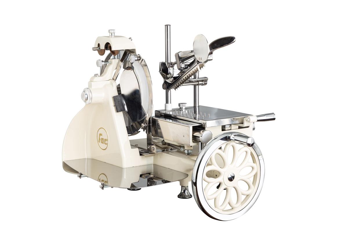 Allesschneider Curvy Line Volano 300-Blatt 30cm-Stahlkomponenten-V.blumig-Cream