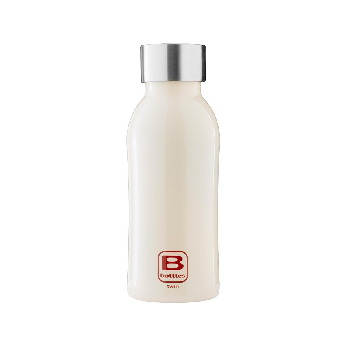 B Bottles Twin - Cream - 350 ml - Bottiglia Termica a doppia parete in acciaio inox 18/10