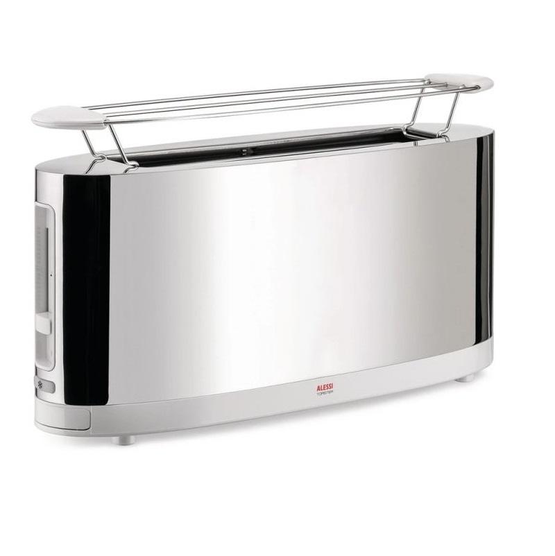 Alessi-Toaster mit Wärmegitter aus Edelstahl 18/10