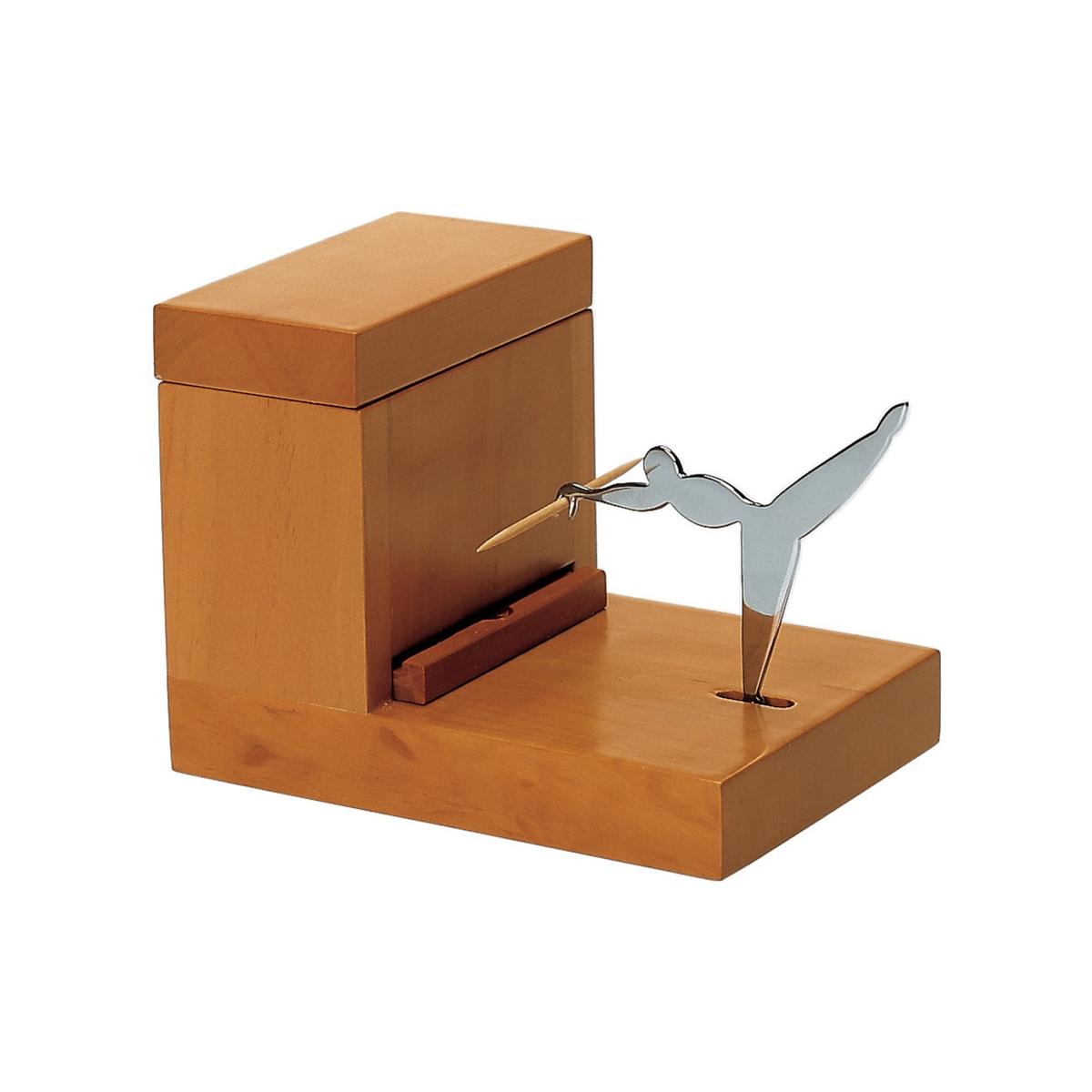 Alessi-Acchiappastuzzicadenti in legno di pero e acciaio