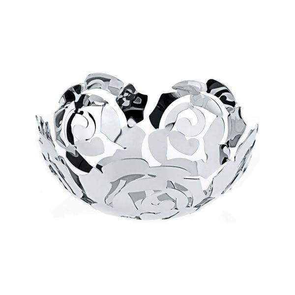 Alessi-LA ROSA Fruit bowl in 18/10 stainless steel