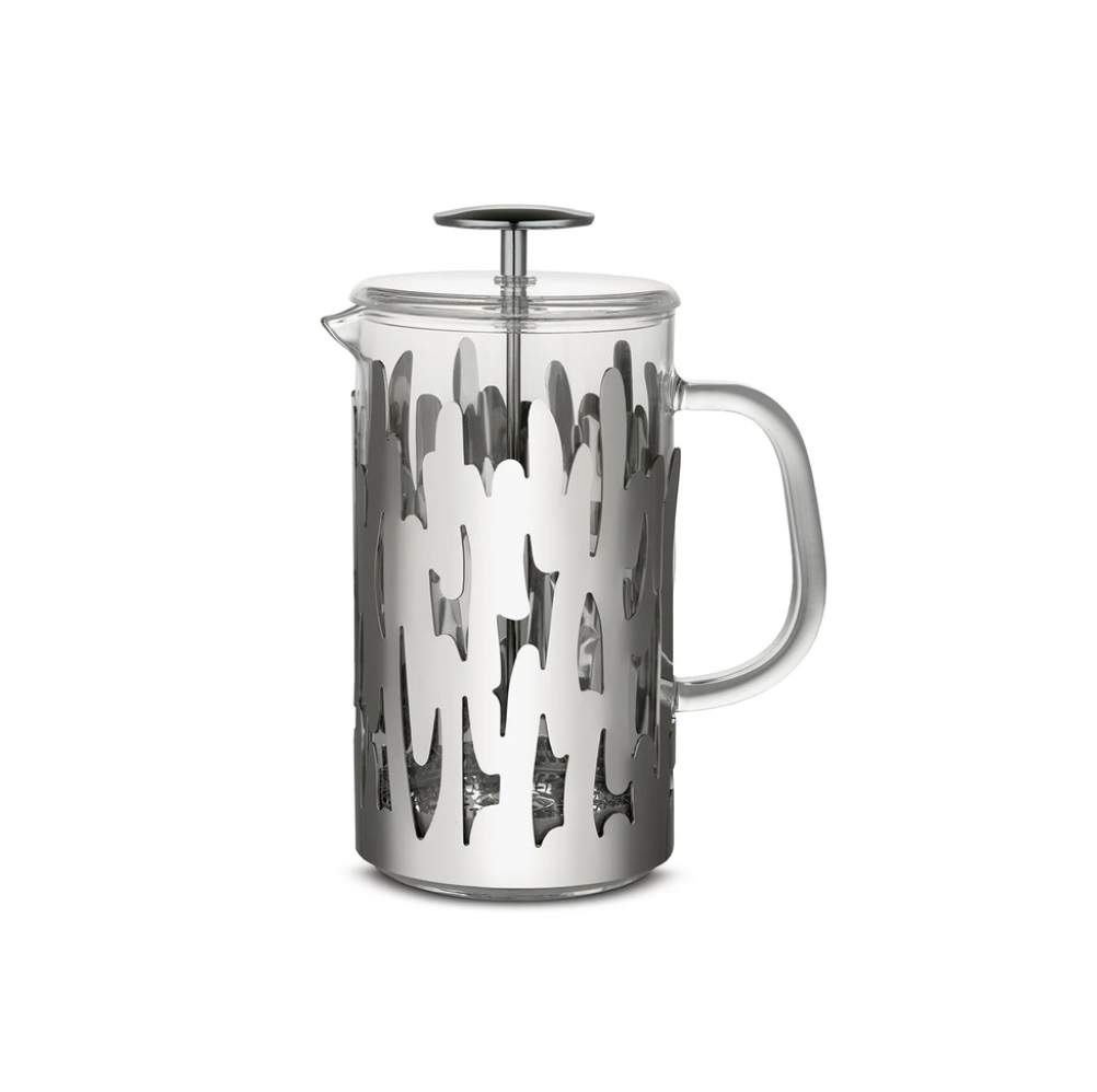Alessi-Barkoffee Press-filter coffee maker in 18/10 stainless steel 8 cups