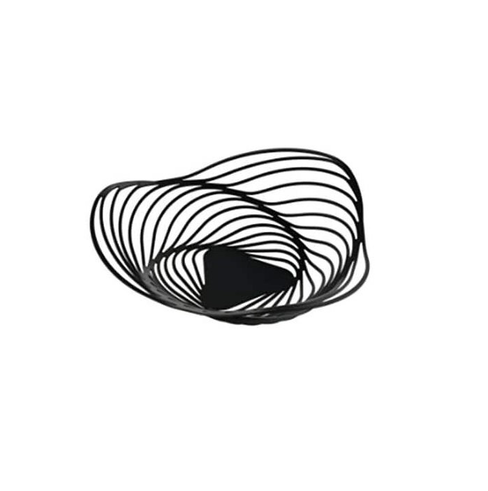 Alessi-Trinity Fruit bowl in steel colored with epoxy resin, black