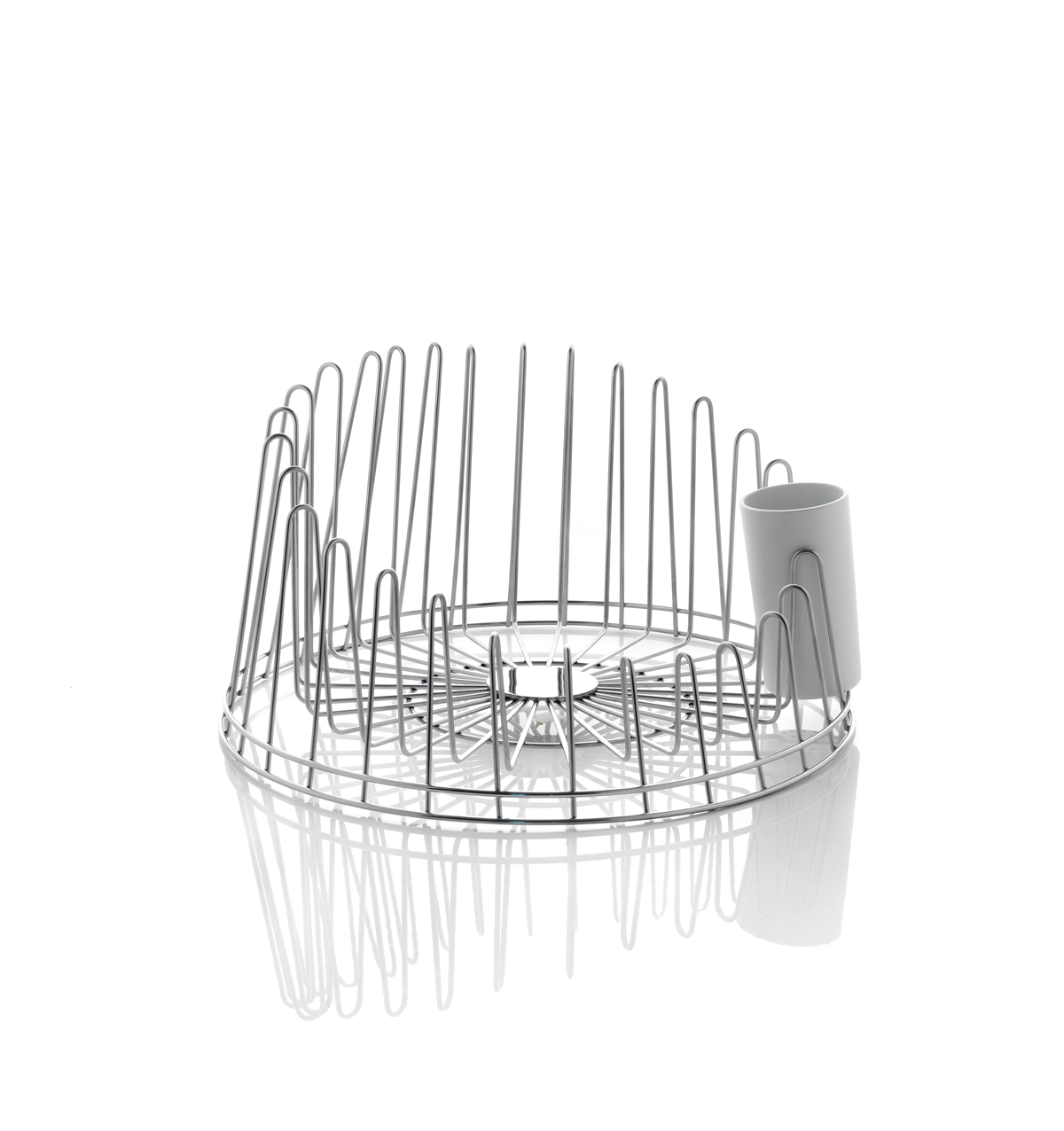 Alessi-A Tempo Dish rack in 18/10 stainless steel and thermoplastic resin
