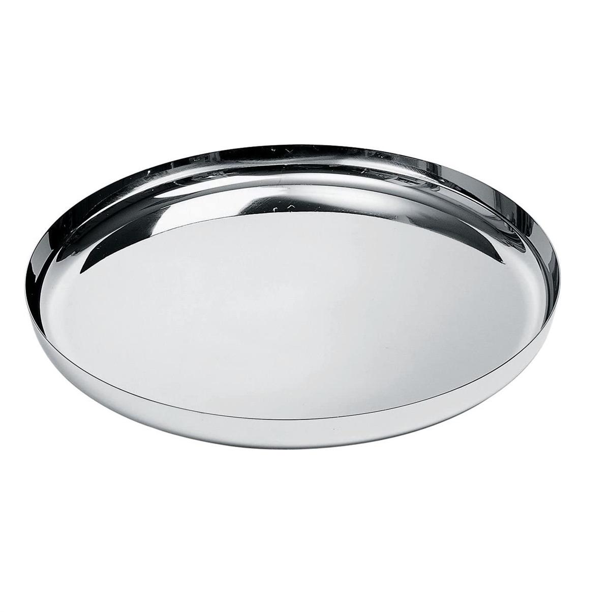Alessi-Round Tablett aus 18/10 Edelstahl spiegelpoliert