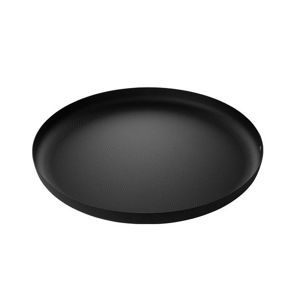 Alessi-Round tray in steel colored with epoxy resin, black