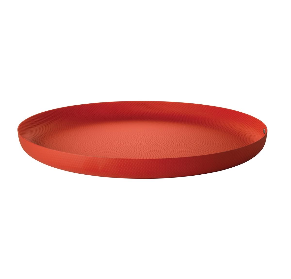 Alessi-Rundschale aus Stahl mit Epoxidharz, rot