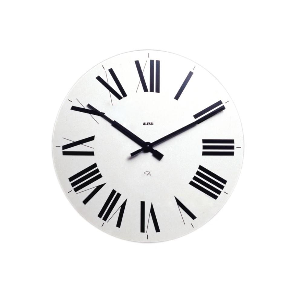 Alessi-Firenze Wall clock in ABS, white Quartz movement