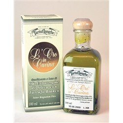 TartufLanghe Extra Virgin Olive Oil with White Truffle Slices