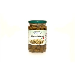 Capers with stem - in wine vinegar - (290gr)