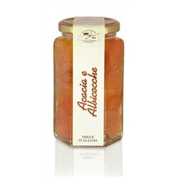 Acacia honey pot with Apricots 350g