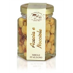 Acacia Honey with hazelnuts 120gr jar