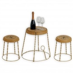 Renoir Table Gabbietta cork and metal