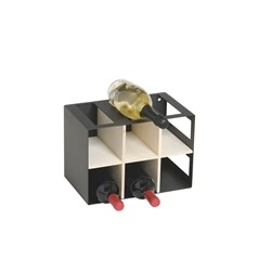 Wine cellar in metal and wood 9 bottles