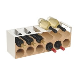 Wine cellar in metal and cork for 18 bottles