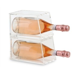 Acrylic wine cooler 2 bottles