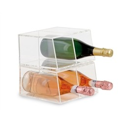 Acrylic wine cooler 4 bottles