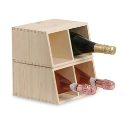 Grotto Dual Use in Solid Pine 4 Bottles and Sectional Form
