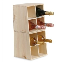 Cellar Dual Use in Solid Pine for 8 Bottles and Sectional Form