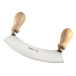 Crescent Stainless Steel 24 cm Single Blade Wooden Handle