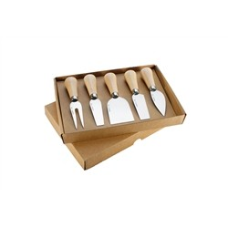 Mercury 5 pcs set mini cheese cutters Handle Wooden Beech