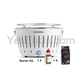 Lotusgrill Lotus Grill Barbecue Table White SPECIAL EDITION (charcoal starter kit with 1Kg and GEL included)