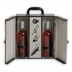 Renoir Box Crocodile for 2 Bottles