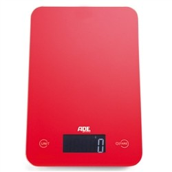ADE Kitchen scale with digital keys'Sensor Touch' - Red