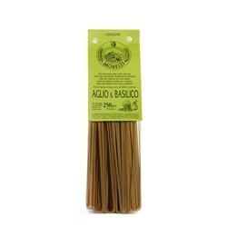 Antico Pastificio Morelli Linguine Garlic and Basil - Pack of 4 packs (4 x 250g)