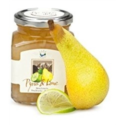 Fruit Jam (2 x 340g) - PEAR WILLIAMS AND LIME - Handmade In Italy