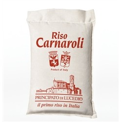 Principato di Lucedio CARNAROLI Rice - 5 kg - in Cellophane bag with protective atmosphere and Sack Canvas