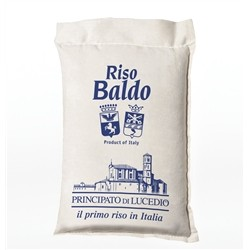 Principato di Lucedio BALDO Rice - 1 kg - in Cellophane bag with protective atmosphere and Sack Canvas