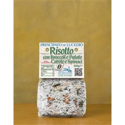 Principato di Lucedio Risotto with broccoli, POTATOES, CARROTS and spinach - 250 g - in Cellophane bag with protective atm
