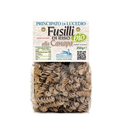 RICE PASTA - FUSILLI to HEMP - 250 g - in Cellophane bag with protective atmosphere