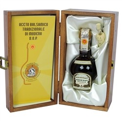 Traditional Balsamic Vinegar of Modena D.O.P. - Extravecchio with Case Wooden - 100 ml