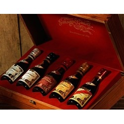 Gift packaging with pouch Wood - BOX with 5 Champagnottine of Balsamic Vinegar of Modena 100 ml