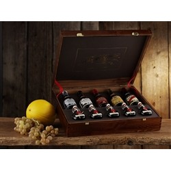 Acetaia Giuseppe Giusti Gift packaging with pouch Wood - THE JEWEL 5 Bottles Historical Collection 250 ml of balsamic vinega
