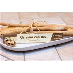 Bakery Panè Sucre Artisan Bread Sticks with Walnuts - (3x250g) - Handmade in Piedmont (Italy)
