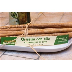 Bakery Panè Sucre Artisan Bread Sticks with Oil E.V.O. - (3x250g) - Handmade in Piedmont (Italy)