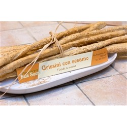 Bakery Panè Sucre Artisan Bread Sticks with Sesame - (3x250g) - Handmade in Piedmont (Italy)