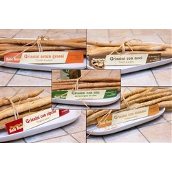 Bakery Panè Sucre Mix Artisan Bread Sticks - without Greases / Walnuts / Onions / Oil E.V.O. / Sesame - (5x250g) - Ha