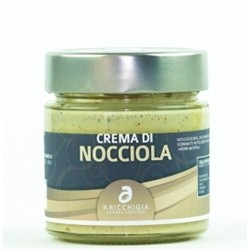 A Ricchigia HAZELNUT CREAM - JAR 90 gr. - Pack 2 pcs - Italian Artisan Product