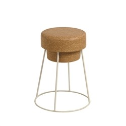 Renoir Low Stool - solid cork stool