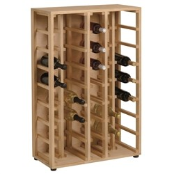 Linear Cellar - Wine cellar Solid Pine for 40 bottles