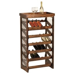 Table Wine Cellar - wine cellar table varnished pine wood for 36 bottles