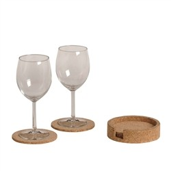 Renoir 6 Coasters with solid container Cork
