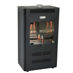 Tecno Air System Stove Bioethanol 3000W ventilated black remote control RUBY UNIKA