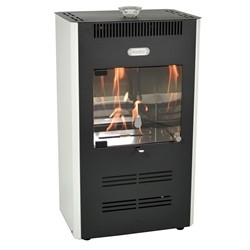 Tecno Air System Stove Bioethanol 3000W ventilated Remote White RUBY UNIKA